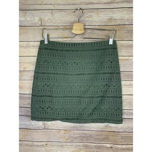 Gap Womens 4 Pencil Skirt Green Lined Eyelet Lace